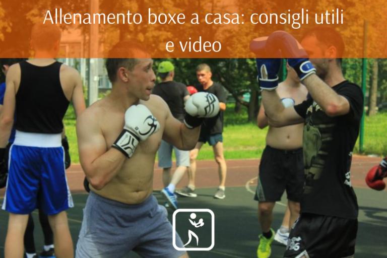allenamento boxe a casa
